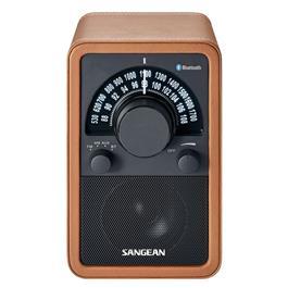 Sangean radio WR-15BT BROWN LEDER