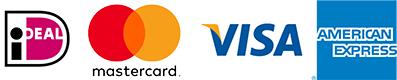 Bij BCC kan je betalen met iDeal, MasterCard, Visa en American Express