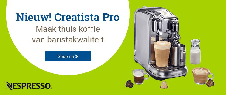 Nieuw van Nespresso: Creatista Pro!